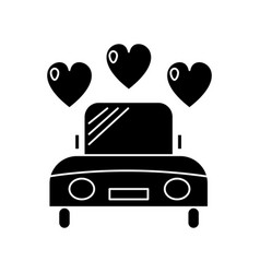 car wedding icon sign o vector image