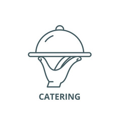 catering line icon catering outline sign vector image