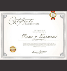 Certificate or diploma retro vintage design 5 vector