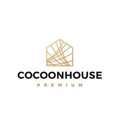 Cocoon house logo icon vector