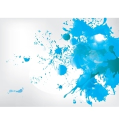 Colored paint splashes on abstract background vector image