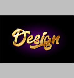 Design 3d gold golden text metal logo icon design vector