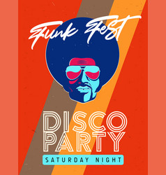 Disco party event flyer collection of the vector