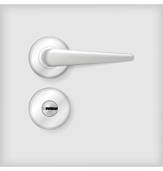 Door handle and lock vector