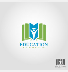 Education logo template vector