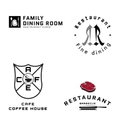 Fast food badges logos and labels for any use vector image