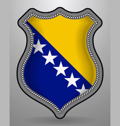 flag of bosnia and herzegovina badge and icon vector image