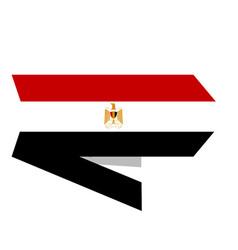 flag of egypt on a label vector image