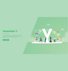 Generation y concept for website template or vector