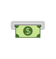 getting cash from atm vector image