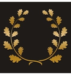 Gold laurel wreath with sample text vector