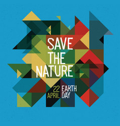 Happy earth day poster 22 april colorful vector