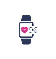 Heart rate pulse icon vector