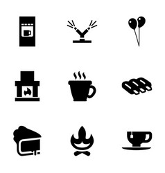 hot icons vector image