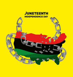 Independence day flag with chain to juneteenth vector