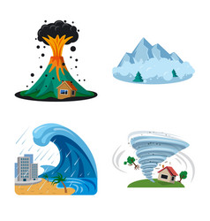 isolated object of natural and disaster symbol vector image