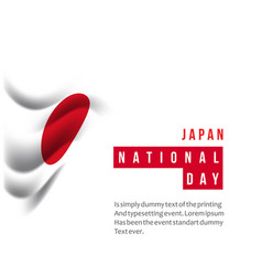 Japan national day template design vector