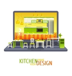Kitchen Design Project Background vector image