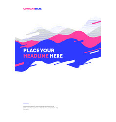 Layout design template with abstract dynamic vector