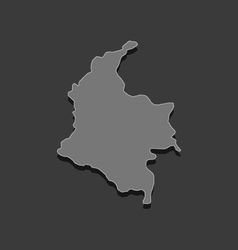 Map of colombia vector