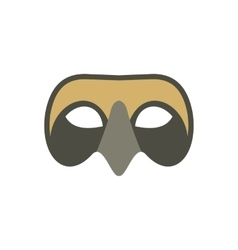 Mens Venetian mask icon flat style vector