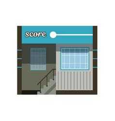 modern city building facade office or commercial vector image