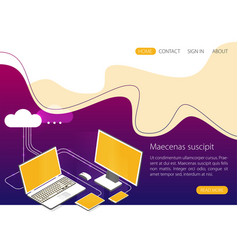 modern cloud technology and networking concept vector image