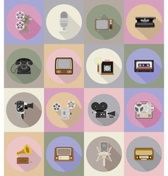 multimedia flat icons 19 vector image