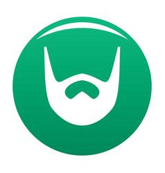 Neat beard icon green vector