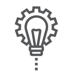 Product development line icon development vector