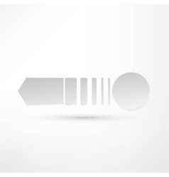 - pure white arrow vector image