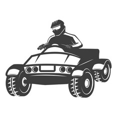 Quad bike isolated on white vector