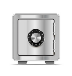 realistic safe made from bright glossy metal steel vector image