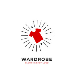Red wardrobe custom selection clothing fashion vector