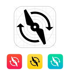 Rotor rotating icon vector image