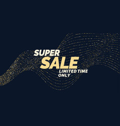 Sale banner with gold glitter original poster for vector