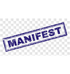 Scratched manifest rectangle stamp vector