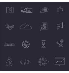 SEO marketing set vector image