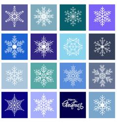 set christmas snowflakes vector image