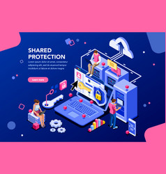 shared protection concept vector image