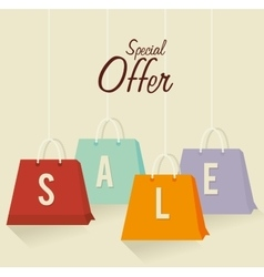 Shopping offers and sales vector image