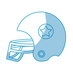 Silhouette football helment to uniform to play vector
