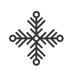 snowflake merry christmas theme set filled vector image