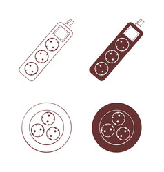Socket icon set vector