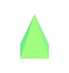 square pyramid three dimensional vector image