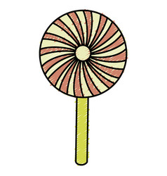 Sweet lollipop isolated icon vector