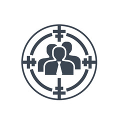 target audience glyph icon vector image