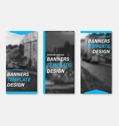 templates for vertical web banners with blue vector image