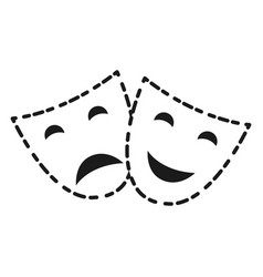 theater faces icon vector image