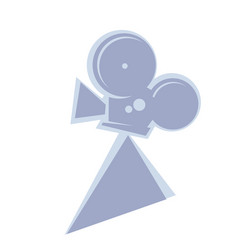 true dreammaker old movie camera logo template vector image